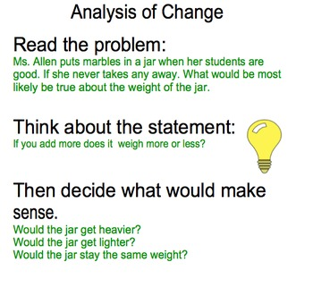 Analysis of Change