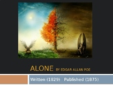Analysis of Edgar Alan Poe's 'Alone' PPT