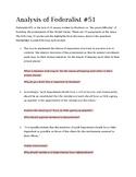 Analysis of Federalist #51