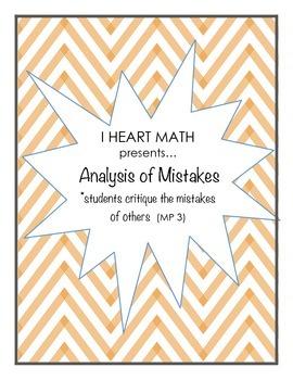 Analysis of Mistakes (Math Practice 3)