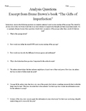 Analysis of a Passage of Brene Brown's Book The Gift's of