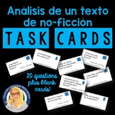 """Reading Non-fiction Text"" Spanish Task Cards"