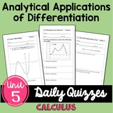 Calculus Analytic Applications of Differentiation Daily Qu