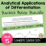Calculus Analytic Applications of Differentiation Guided N