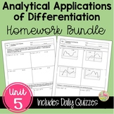 Calculus Analytic Applications of Differentiation Homework