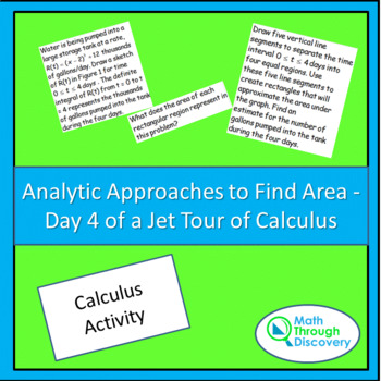 Calculus:  Analytic Approaches to Find Area - Day 4 of a Jet Tour of Calculus