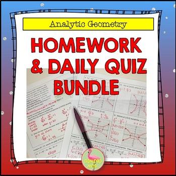 PreCalculus: Analytic Geometry Homework Bundle