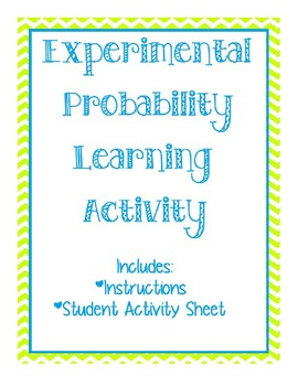 Experimental Probability Group Activity