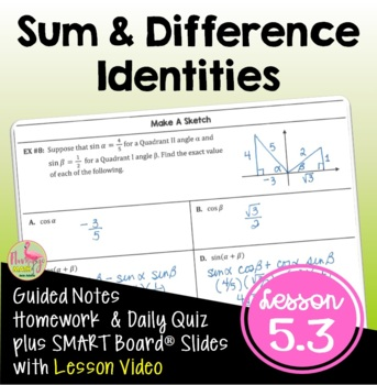 Sum and Difference Identities (PreCalculus - Unit 5)