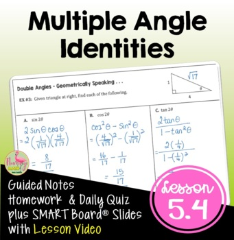 PreCalculus: Multiple Angle Identities