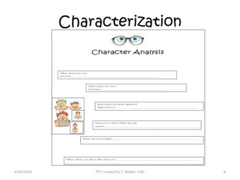 Analytical Dissecting of Novel/Literature Using Graphic Organizers