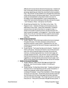 Analytical Essay Editing Workshop Lesson Plan - Grades 9-12
