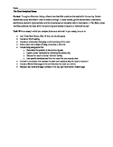 Analytical Essay Task for The Giver