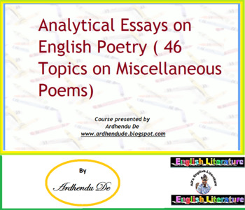 analytical essays on english poetry   topics on miscellaneous  originaljpg