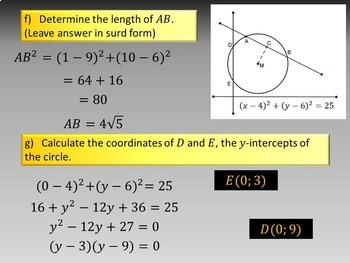 Analytical Geometry - Cirlces