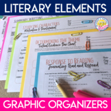 Literary Elements Graphic Organizers for Any Narrative Text - Distance Learning