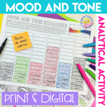 Analytical Mood and Tone Activity for Any Story, Poem, Song, Play, or Book