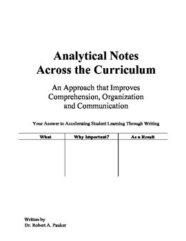 Analytical Notes Across the Curriculum