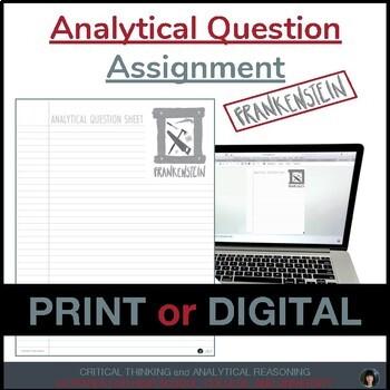 Analytical Question FRANKENSTEIN