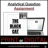 THE BLACK CAT   THE BLACK CAT ASSIGNMENT   THE BLACK CAT DISTANCE LEARNING