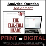 Analytical Question   THE TELL-TALE HEART   DISTANCE LEARNING