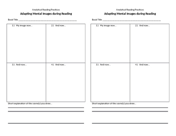 Analytical Reading Practices Notebook Half Sheets