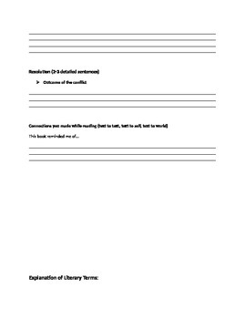 Analytical Reading log-independent fiction novel
