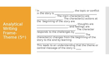 Analytical Writing Frame- Theme (5th)