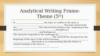 Analytical Writing Frames- Theme 3-5