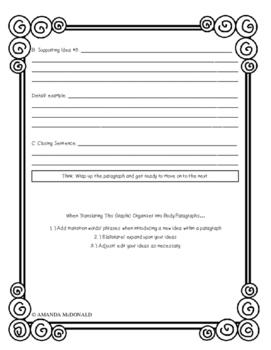 Analytical Writing Graphic Organizer: Body Paragraphs