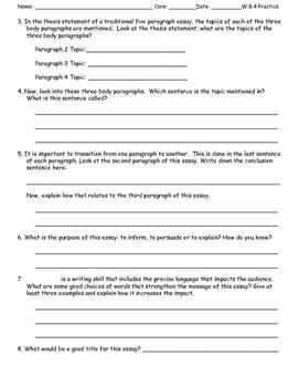 Analyze 5 Pararaph Essay