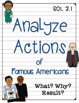 Analyze Actions of Famous Americans {SOL 2.1 & 2.4}