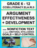 Analyze Argument Effectiveness with SEL Nonfiction Article: Goals + Self-Control