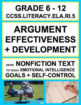 Analyze Argument Effectiveness with SEL Nonfiction Article: Goals + Self-Control