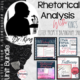 Analyze Arguments: King's Letter from a Birmingham Jail- COMPLETE UNIT BUNDLE!