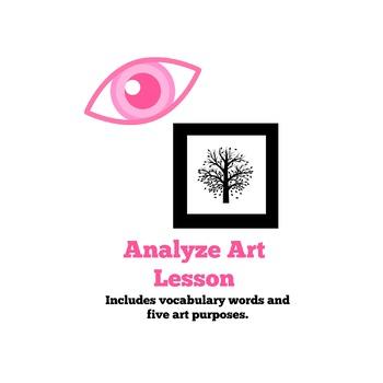 Analyze Art Lesson Plan