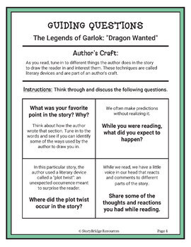 Analyze Author's Craft-A Short Fantasy Story for Reading Comprehension and