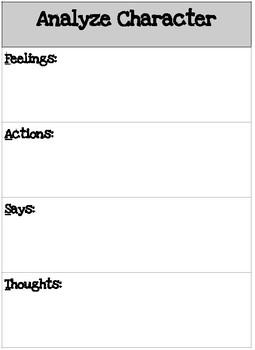 Analyze Character