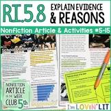 Analyze Claims & Reasons (Argument) RI.5.8   School Uniform Debate Article#5-15