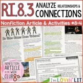Analyze Connections RI.8.3   Do Video Games Cause Violence? Article #8-4