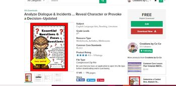 Analyze Dialogue & Incidents ... Reveal Character or Provoke a Decision