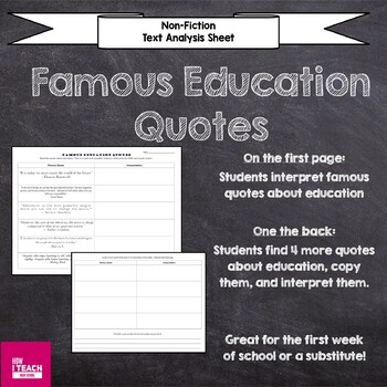 Analyze Famous Education Quotes