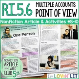 Analyze Multiple Accounts & Point of View RI.5.6   One Person Article #5-10