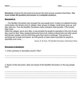 Analyze Neolithic Revolution Documents!