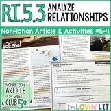 Analyze Relationships in a Text RI.5.3 | Hawaii Volcano (Kilauea) Article #5-4