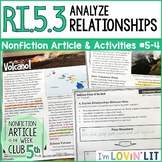 Analyze Relationships in a Text RI.5.3 | Hawaii Volcano (Kilauea) Article #5-4