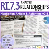 Analyze Relationships in a Text RI.7.3 | Fossil Fuel Overuse Article #7-3