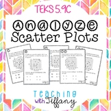 Analyze Scatter Plots Task Cards (First Quadrant Only) -TEKS 5.9C