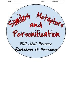Analyze Similes, Metaphors & Personification