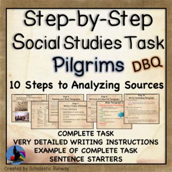 Analyze Sources: Pilgrims Social Studies Task DBQ
